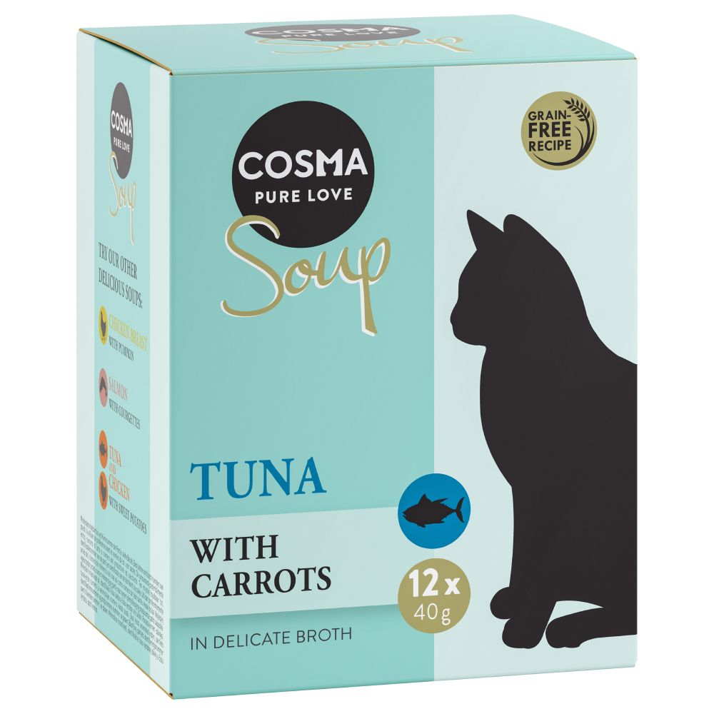48 x 40g Cosma Soup Wet Cat Food - Special Price!* - Tuna & Chicken with Sweet Potatoes