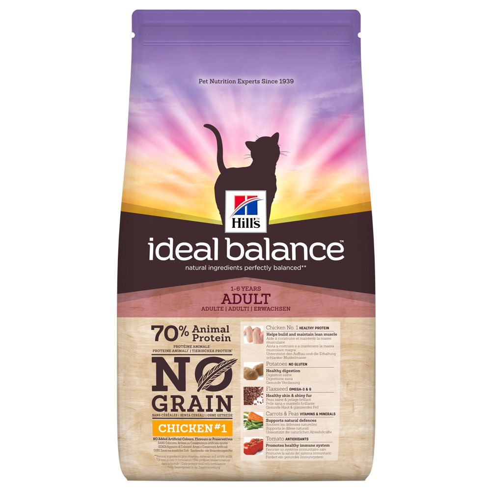 Hill's Ideal Balance Feline Adult No Grain Chicken & Potato - 1,5 kg