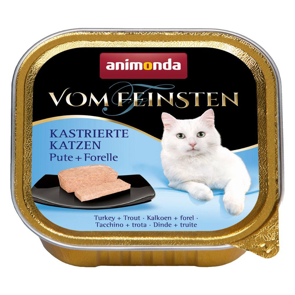 12x100g Neutered Cats Turkey & Trout Animonda vom Feinsten Wet Food