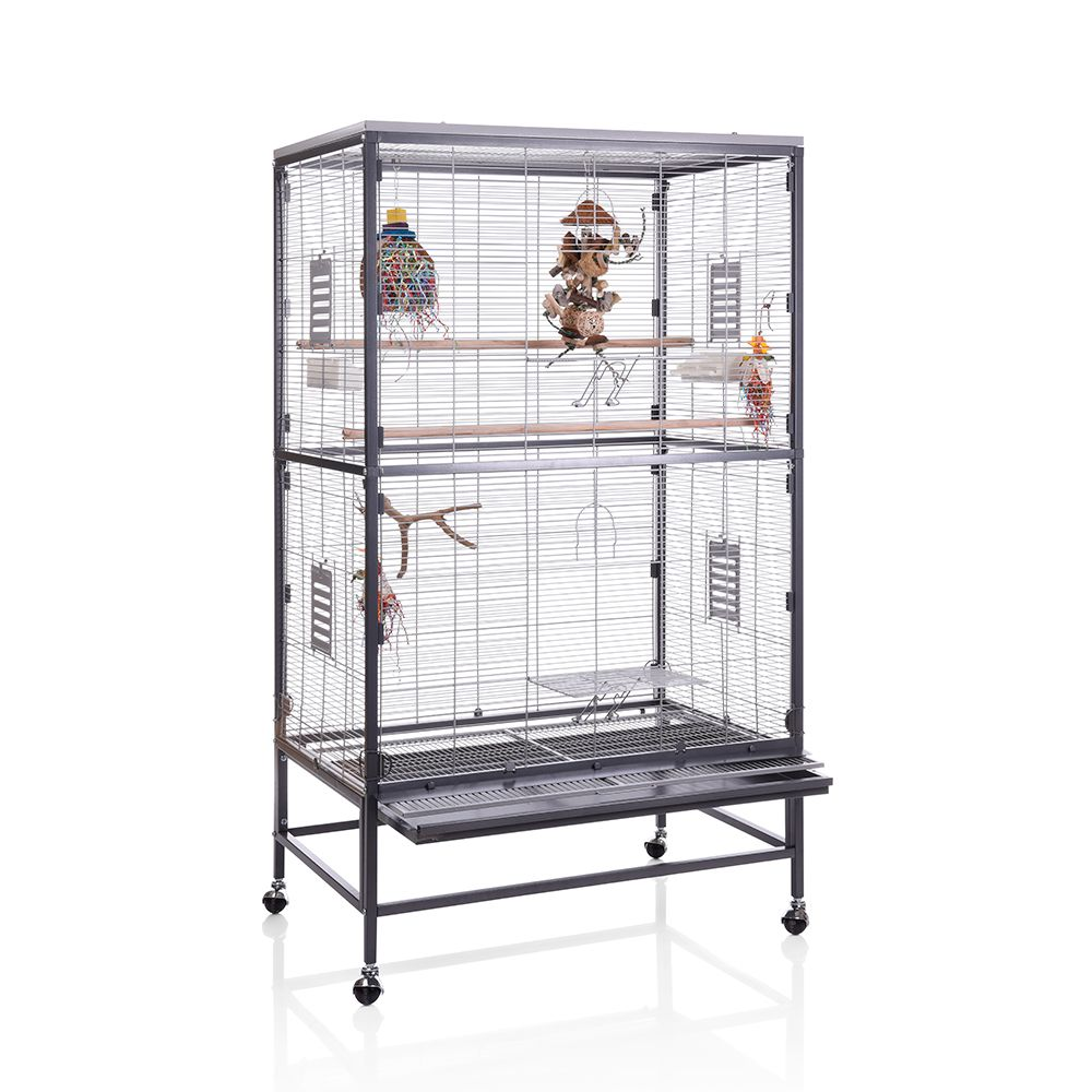 Make your bird's cage a paradise. The Montana Paradiso 90 is not only a spacious home for parakeets and other birds but also a real eye-catching and modern additio...