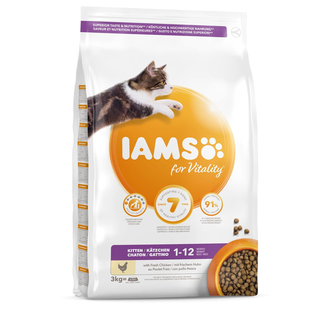 IAMS for Vitality Kitten Fresh Chicken 3 kg