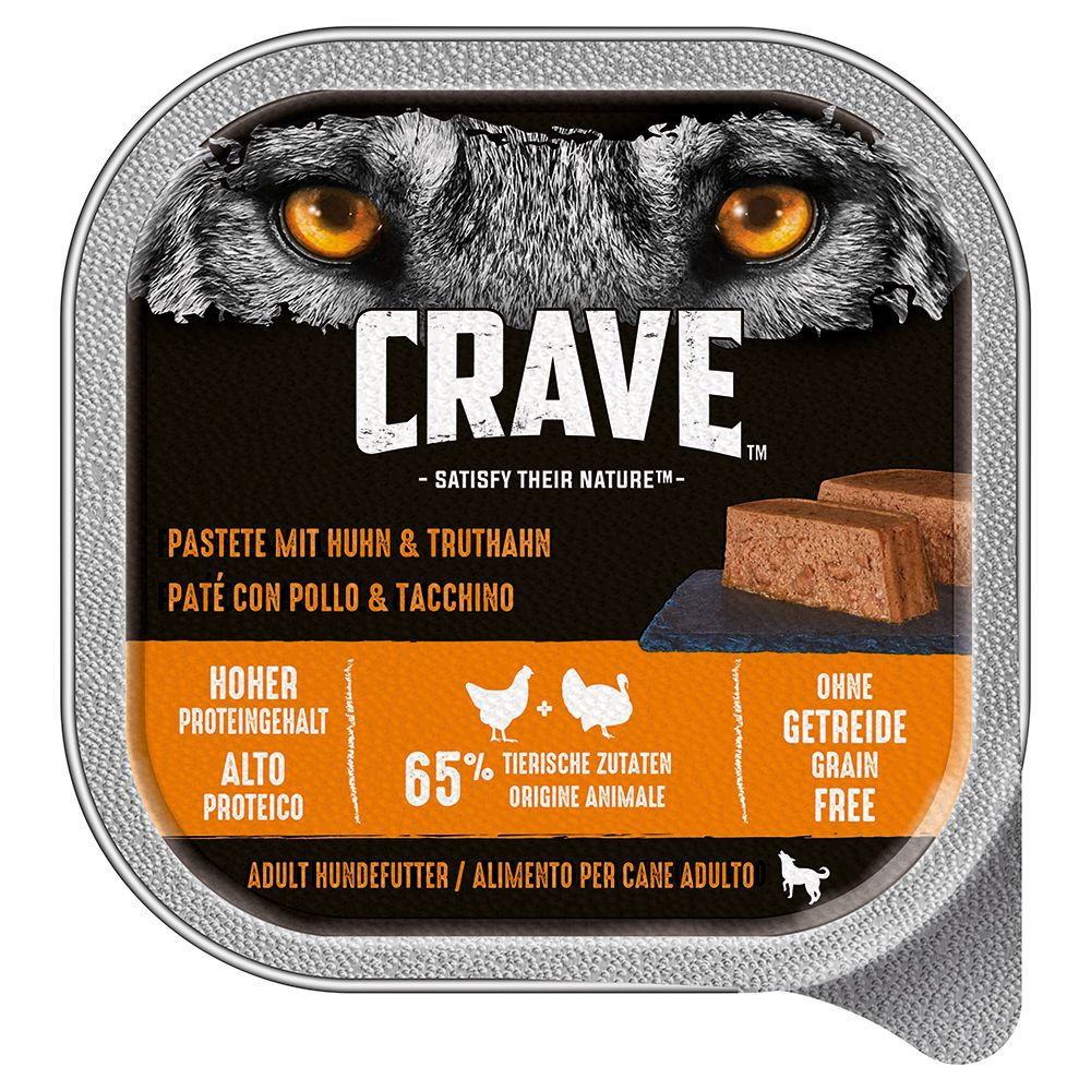 Crave Adult Pate Wet Dog Food 10 x 300g