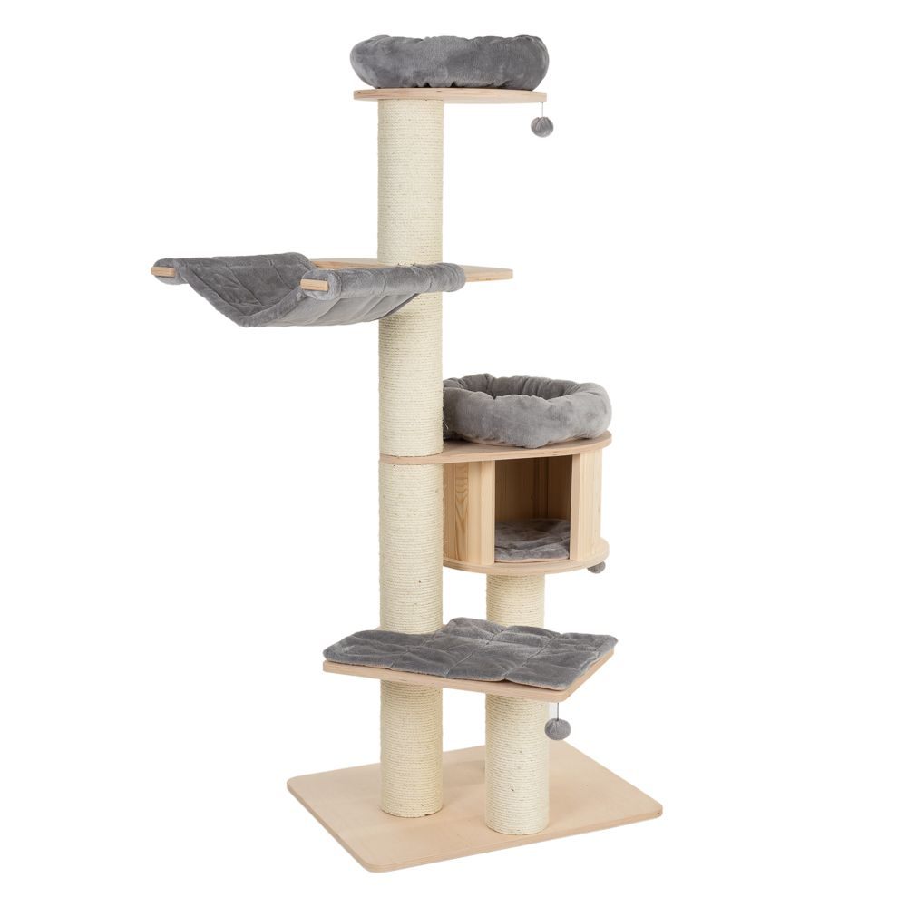 Natural Paradise Cat Tree XL Premium Light Grey