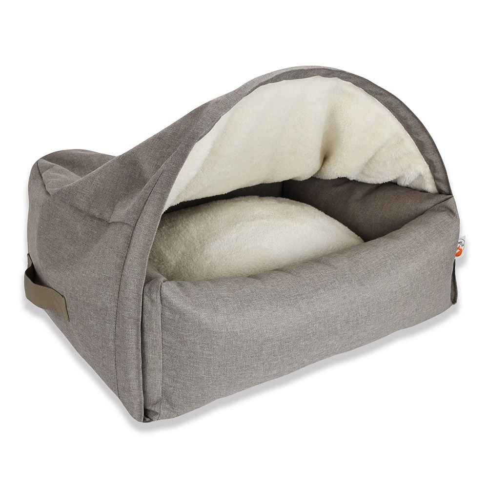 Taupe Sleepy Fox Den for Pets Small 55x65x40cm
