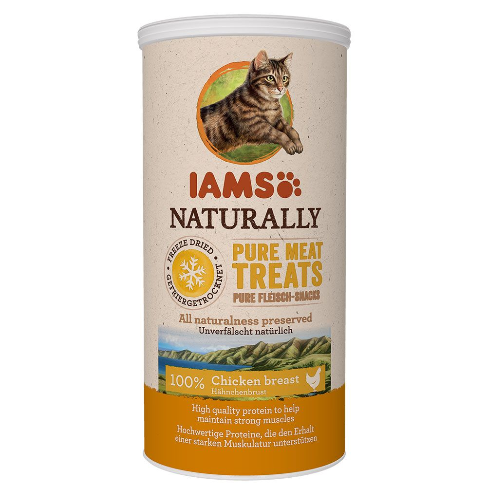 IAMS Naturally Cat 100 % Meat - Ekonomipack: Lax 2 x 20 g