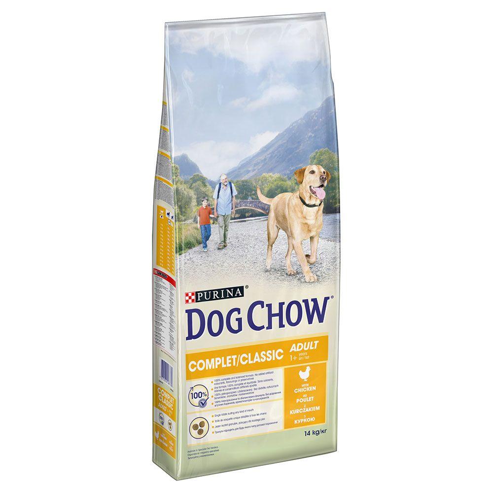 2x14kg PURINA Dog Chow Complet/Classic, poulet - Croquettes pour chien