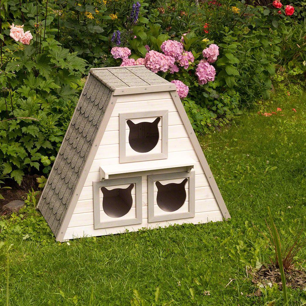 Domek dla kota Madeira - Dł. x szer. x wys.: 90 x 50 x 75 cm