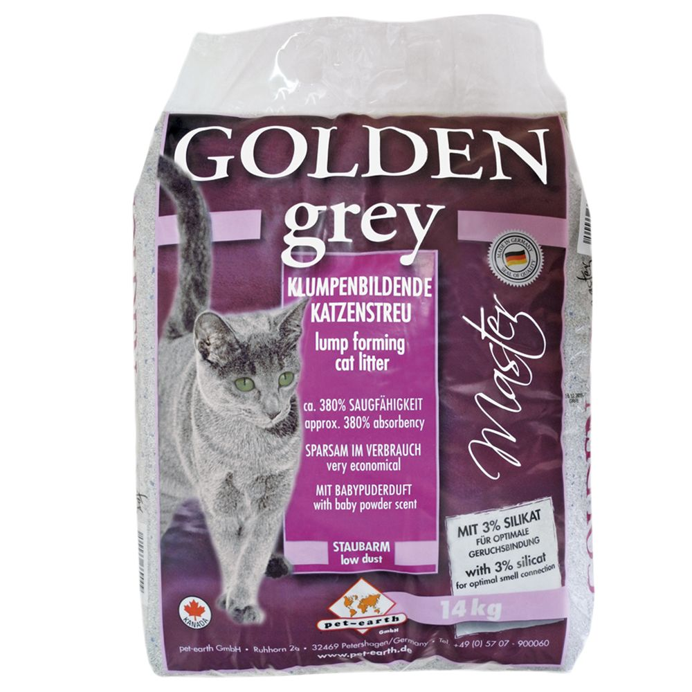 14kg Golden Grey Master Clumping Cat Litter