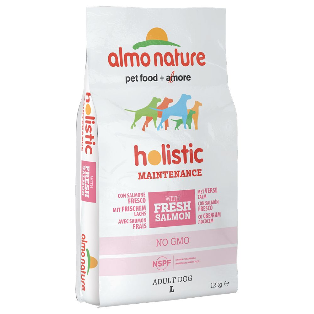 Foto Almo Nature Holistic Large Adult con Salmone - 12 kg