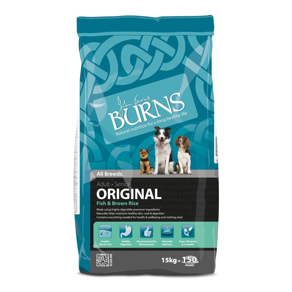 Burns Adult & Senior Original - Fish & Brown Rice - 15kg