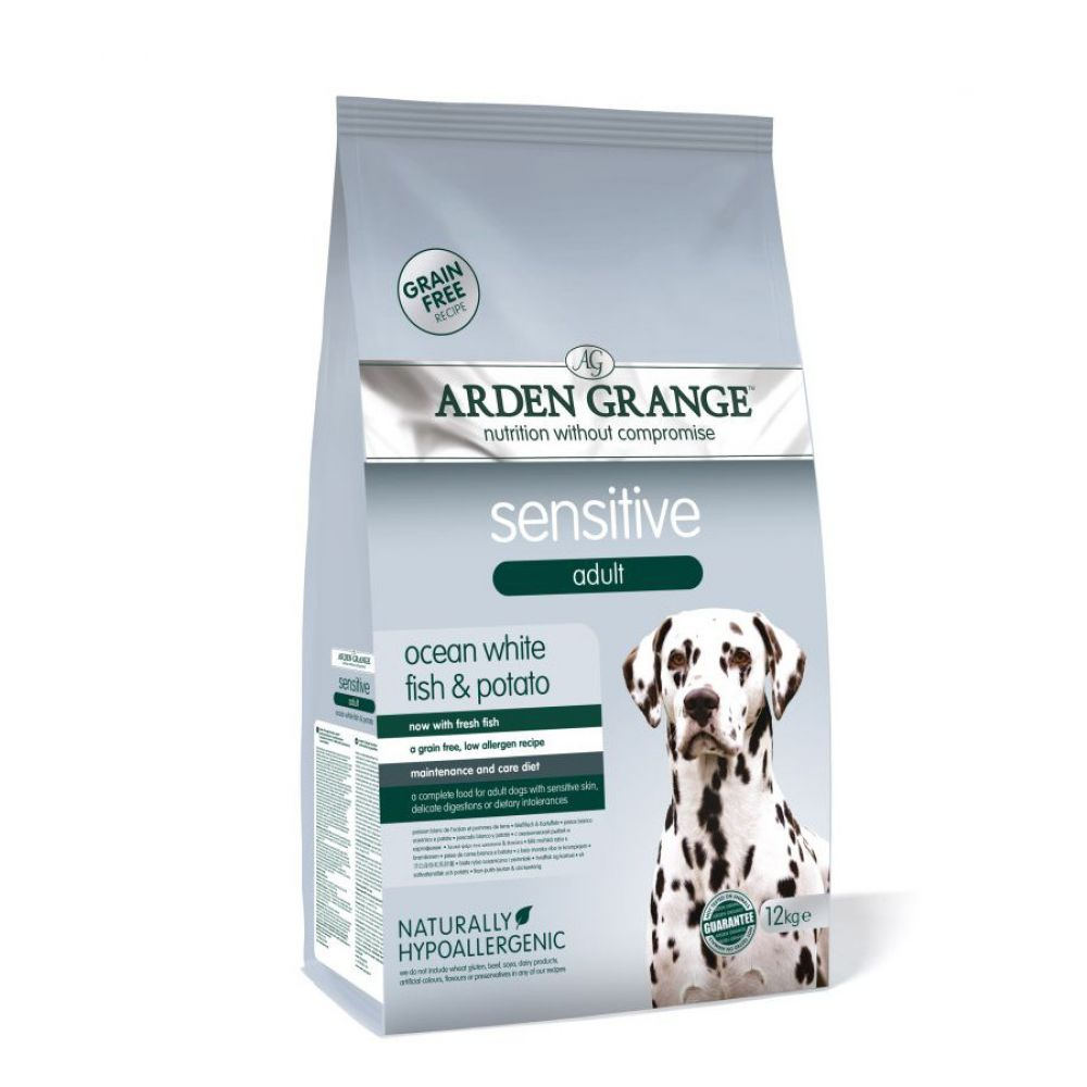 Arden Grange Sensitive Adult Grain-Free Ocean White Fish & Potato Dog Food