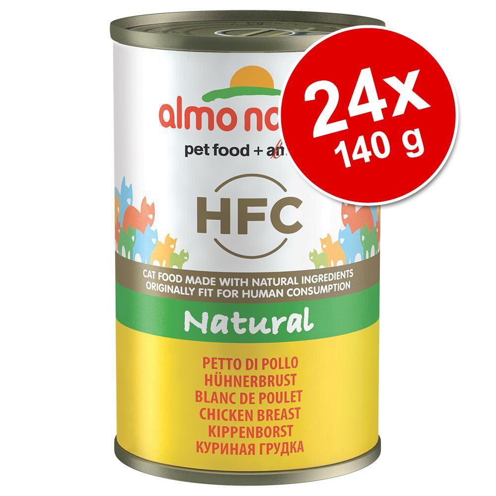 Ekonomipack: Almo Nature HFC 24 x 140 g - Tonfisk & kyckling