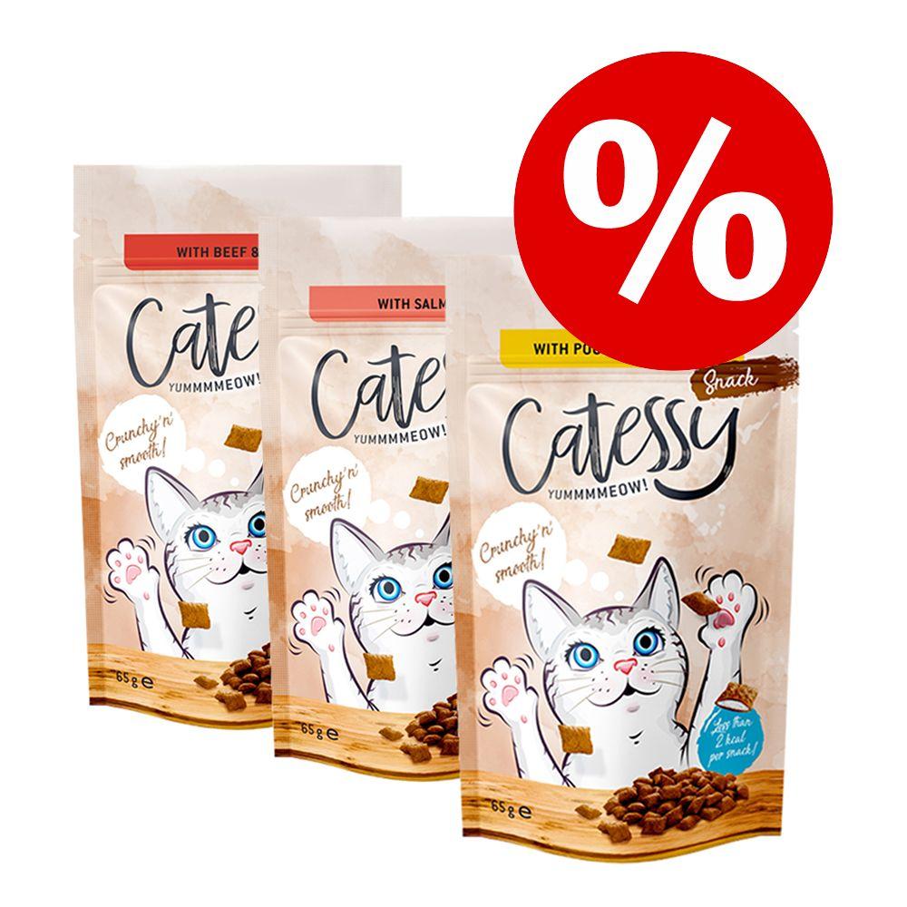 Korzystny pakiet Catessy Chrupiący przysmak, 3 x 65 g - Wołowina z witaminami i słodem