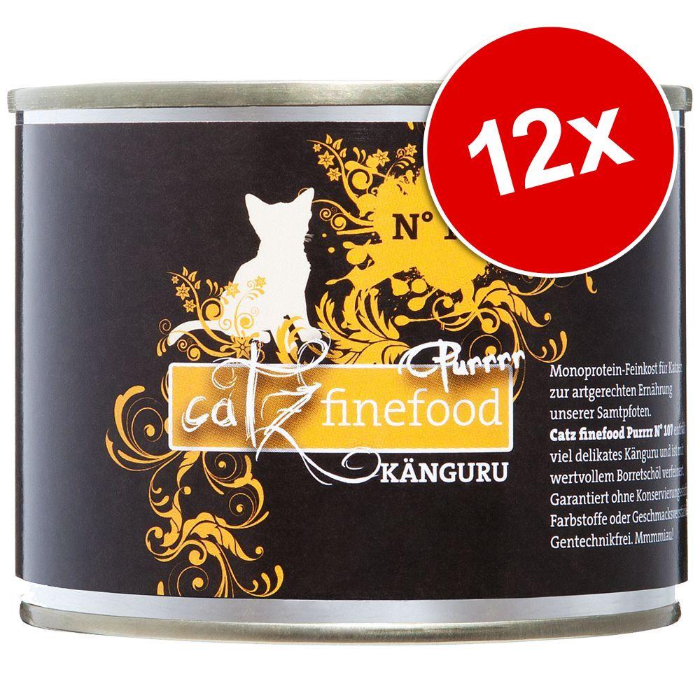 Ekonomipack: catz finefood Purrrr 12 x 200/190 g - No. 107 känguru (12 x 200 g)
