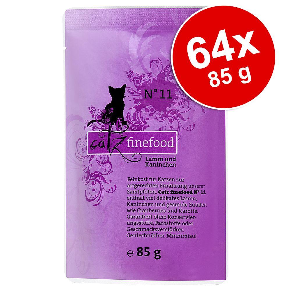 Ekonomipack: catz finefood portionspåse 64 x 85 g - Kyckling & tonfisk