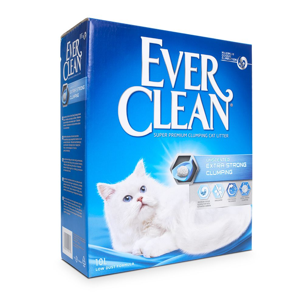 Ever Clean® Extra Strong Clumping - Unscented kattsand - 10 l