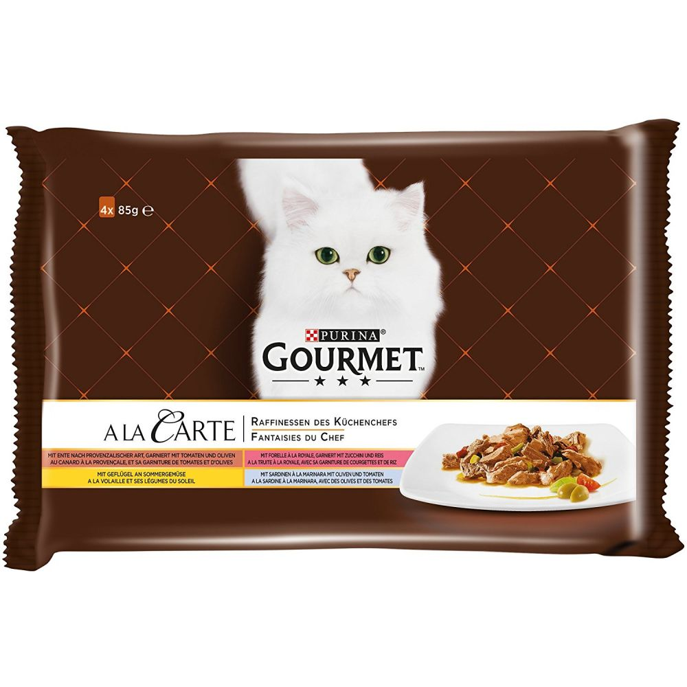 Chicken Trout Beef Pollack Gourmet A La Carte Wet Cat Food