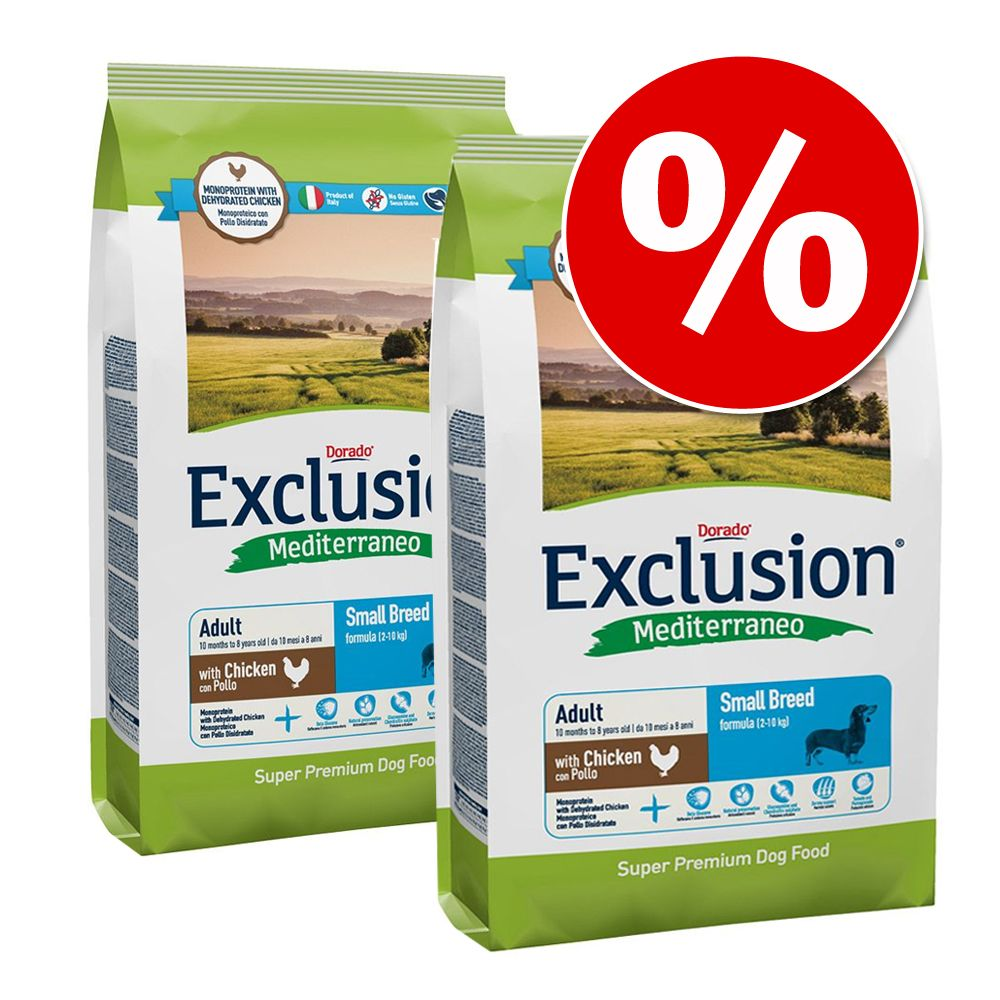 Foto 2 x Exclusion Mediterraneo - Adult Large Pesce 2 x 12,5 kg