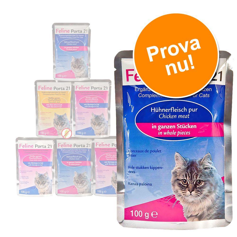 Blandat provpack: 6 x 100 g Feline Porta 21 – Blandat provpack