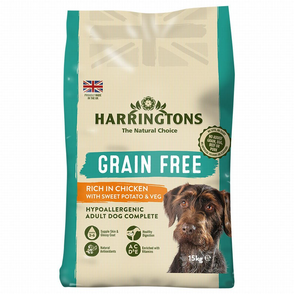 Harringtons Grain-Free Hypoallergenic Chicken & Sweet Potato Dry Dog Food