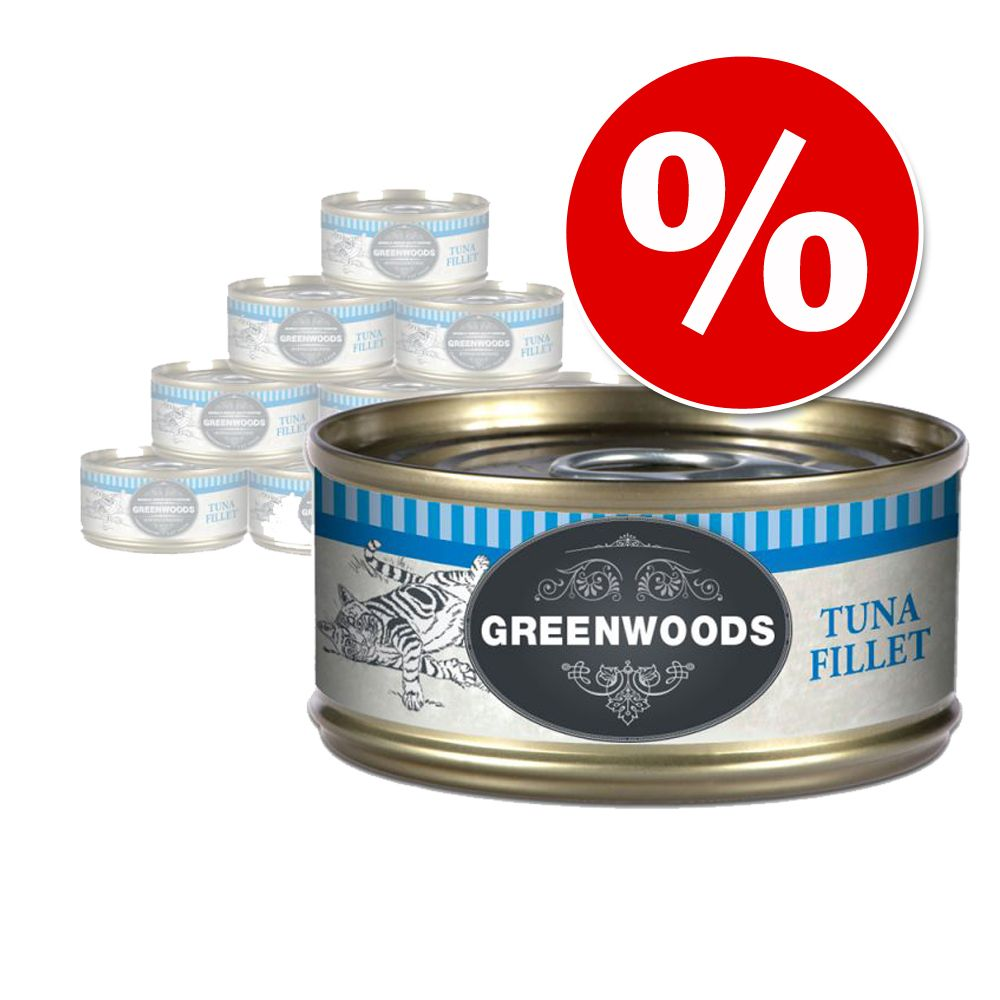 Specialpris: 6 x 70 g Greenwoods Adult - Blandpack