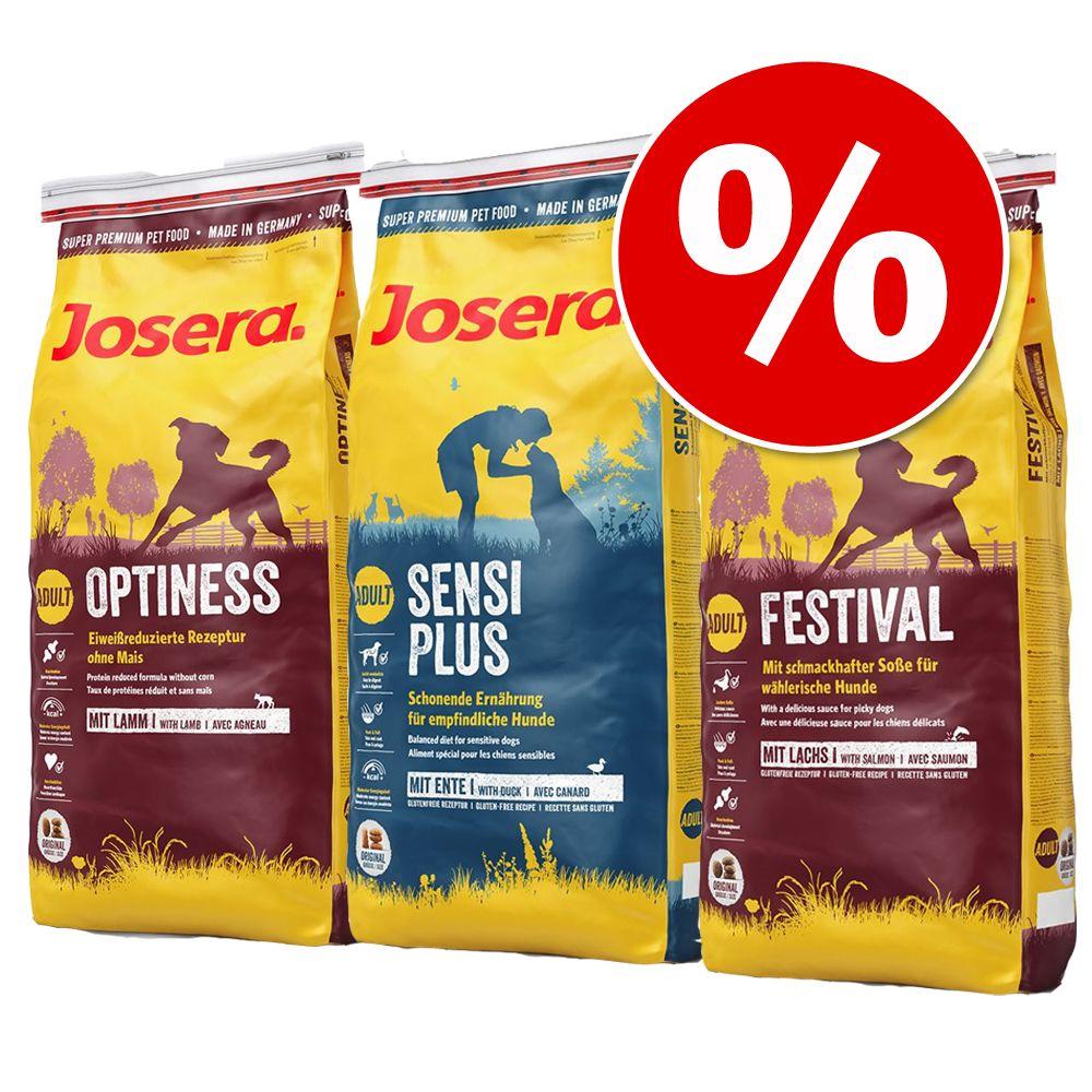 3 x 4 kg! Josera Mix zum Probierpreis - Mix: Optiness, Festival & SensiPlus