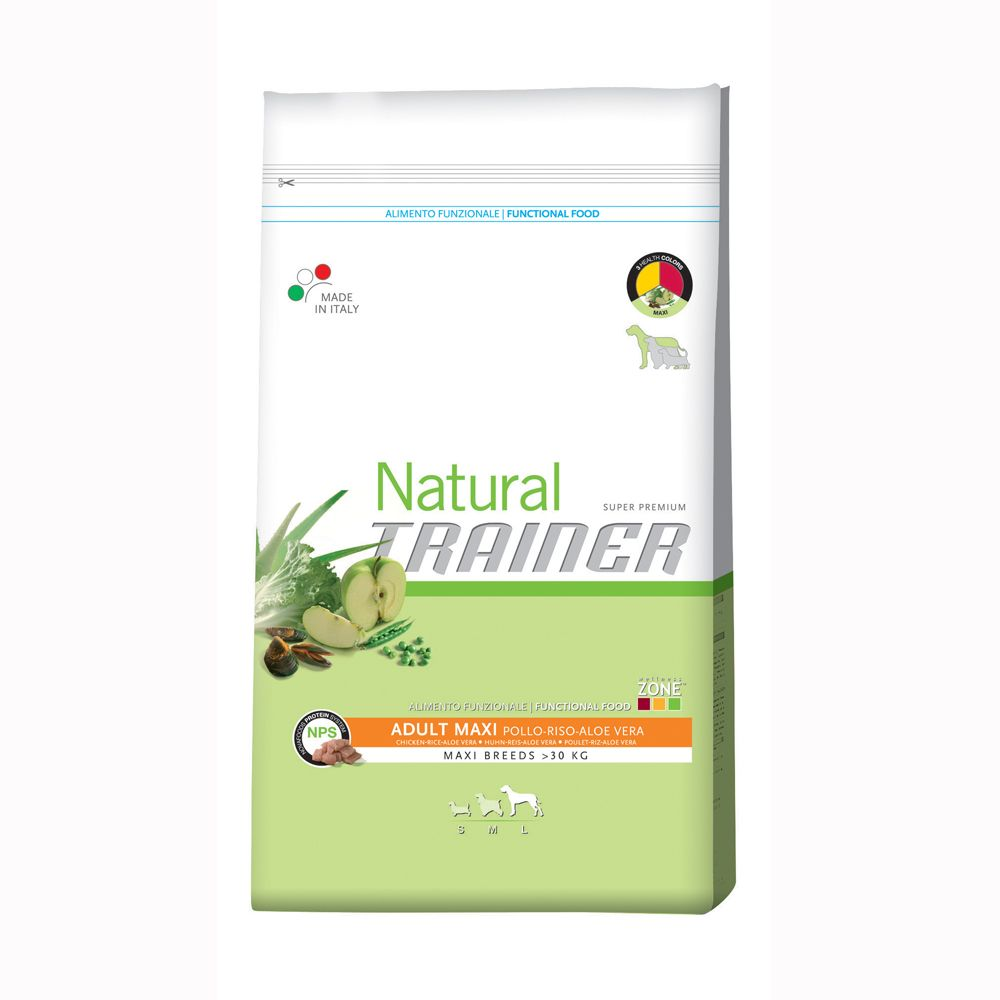 Foto Trainer Natural Adult Maxi Pollo, Riso e Aloe Vera - 12,5 kg Trainer Natural Size Maxi