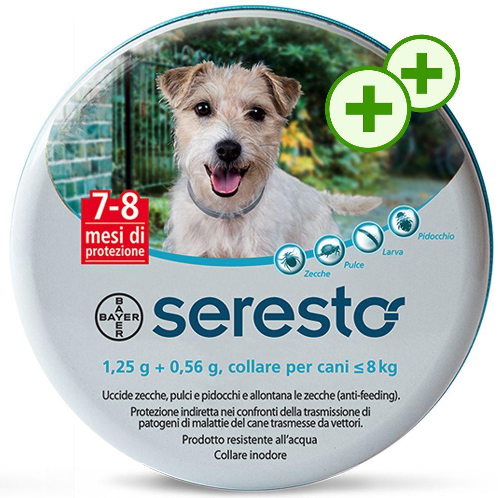 Foto Seresto Collare per cani - Seresto 1,25 g + 0,56 g, collare per cani ≤ 8 kg