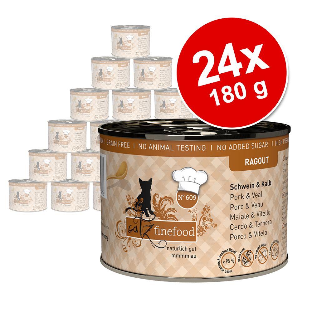Sparpaket catz finefood Ragout 24 x 180 g - No. 603 Gans & Pute