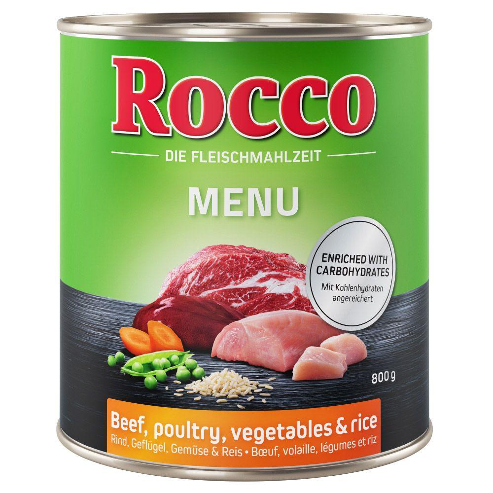 Rocco Menu 6 x 800 g - Blandpack, 3 sorter