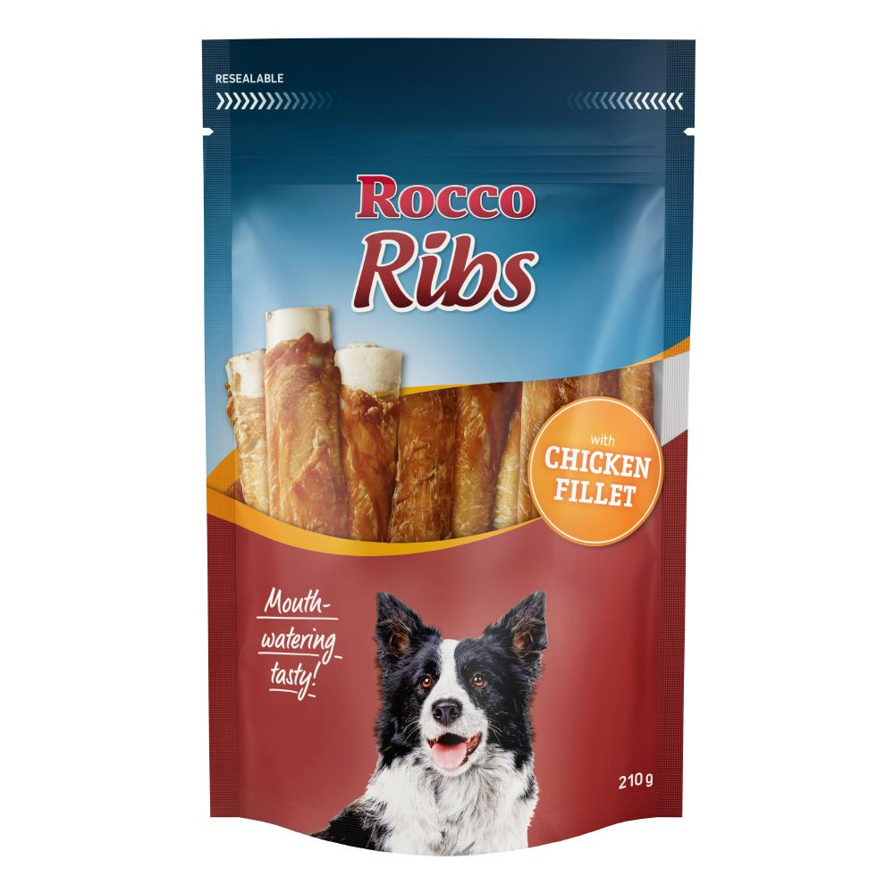 4 x 210g Rocco Ribs Dog Treats