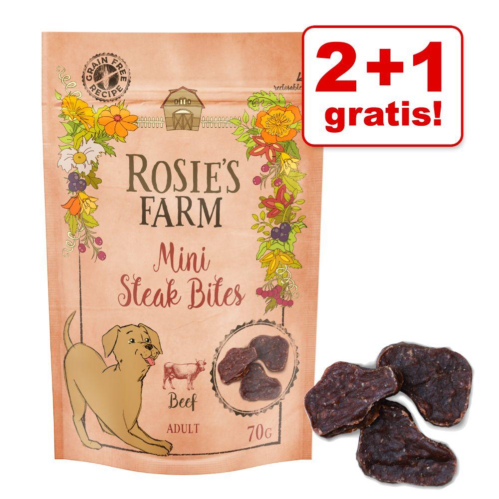 2 + 1 gratis! Rosie's Farm Hundesnacks - Rind (210 g)