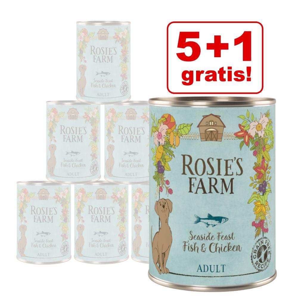 5 + 1 gratis! Rosie's Farm 6 x 400 g  - Fisch & Huhn