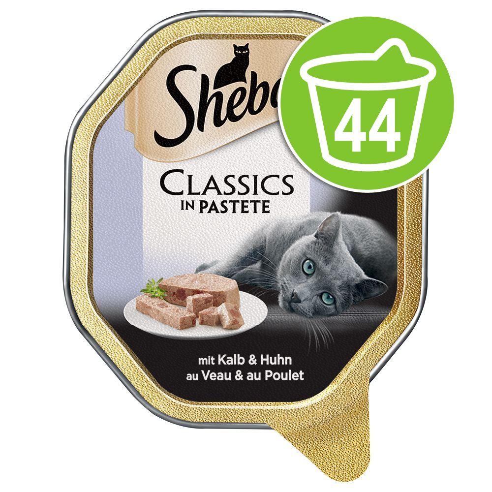 Ekonomipack: 44 x 85 g Sheba portionsform - Classics Paté Kalv & kyckling