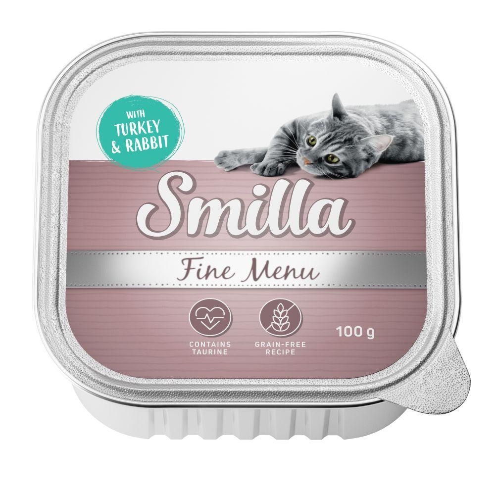 8x100g Smilla Fine Menu kattefoder - Kalkun & Kanin