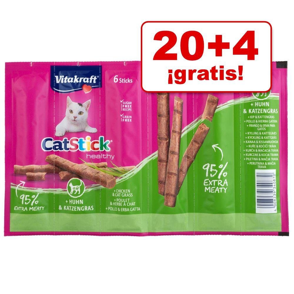 Vitakraft Cat Stick 24 x 6 g en oferta: 20 + 4 ¡gratis! - Classic: pavo y cordero