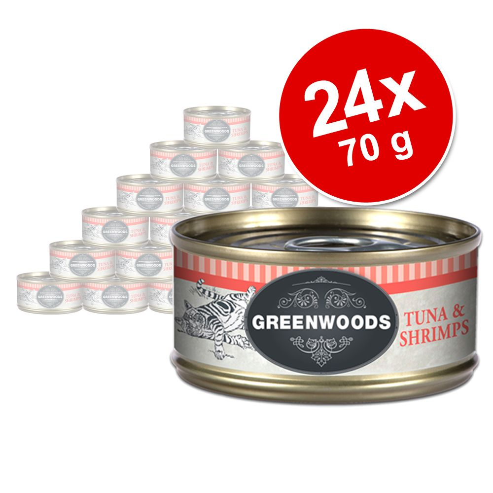 Sparpaket Greenwoods Adult 24 x 70 g - Thunfisc...