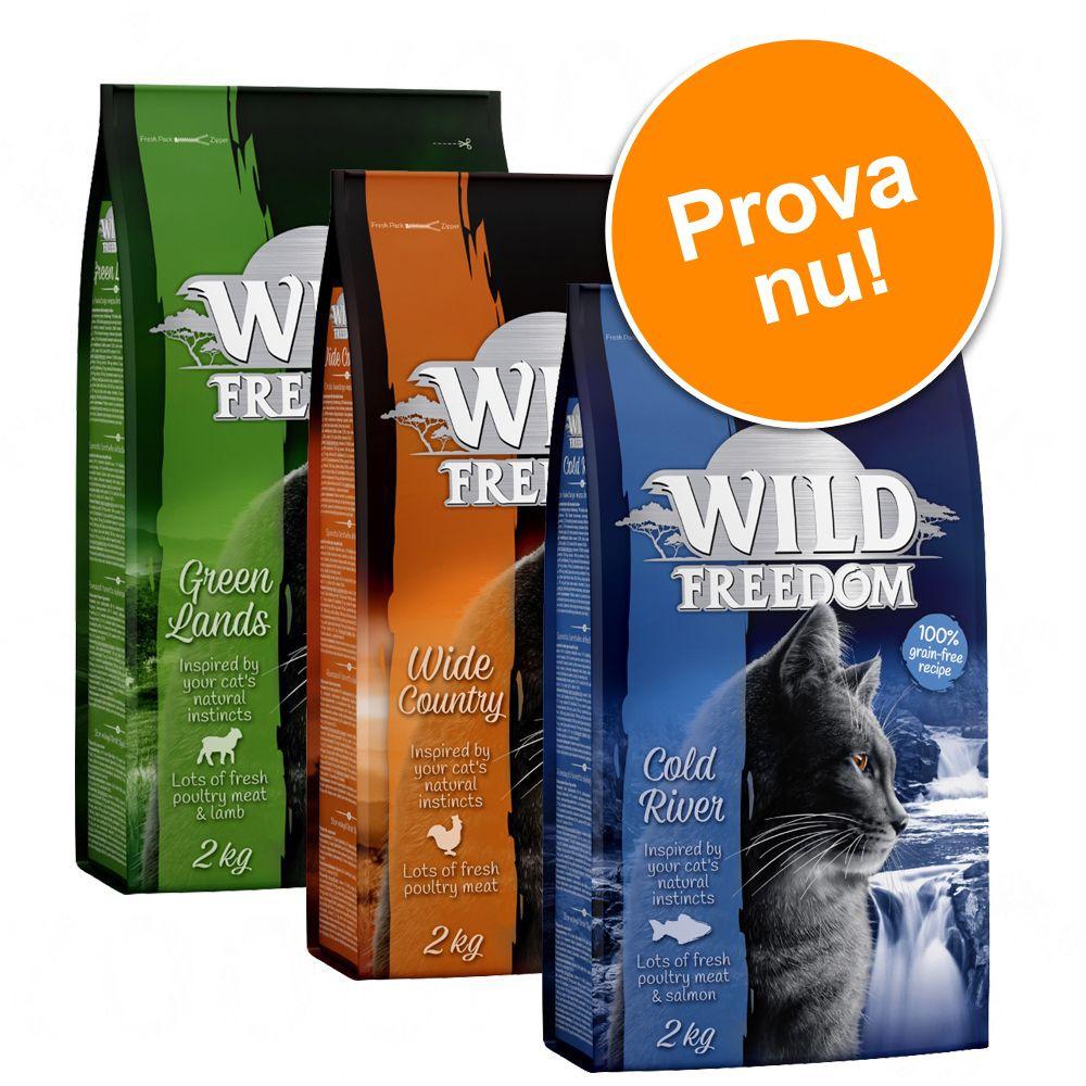 Blandpack: Wild Freedom torrfoder för katt - 3 x 400 g: Poultry, Salmon + Duck