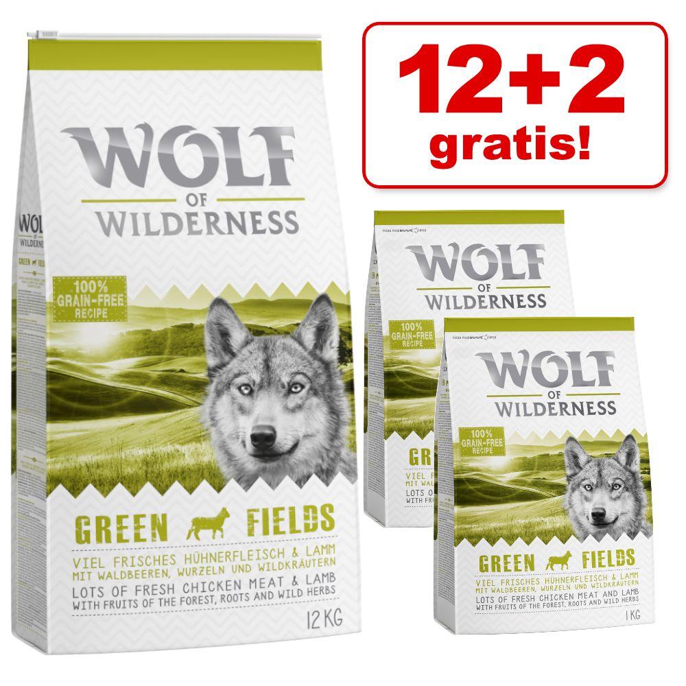 12 + 2 kg gratis! 14 kg Wolf of Wilderness Trockenfutter - Deep Seas - Hering