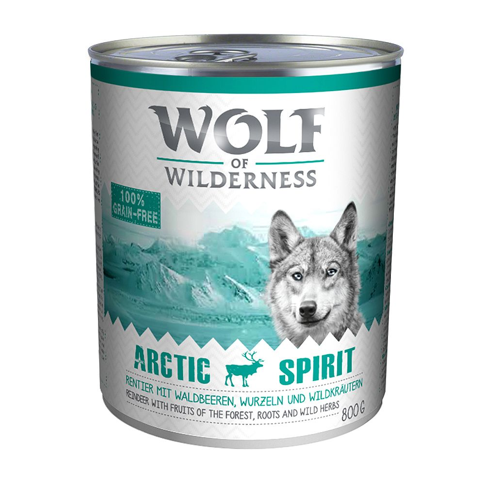 Wolf of Wilderness Adult Saver Pack 24 x 800g - Green Fields - Lamb
