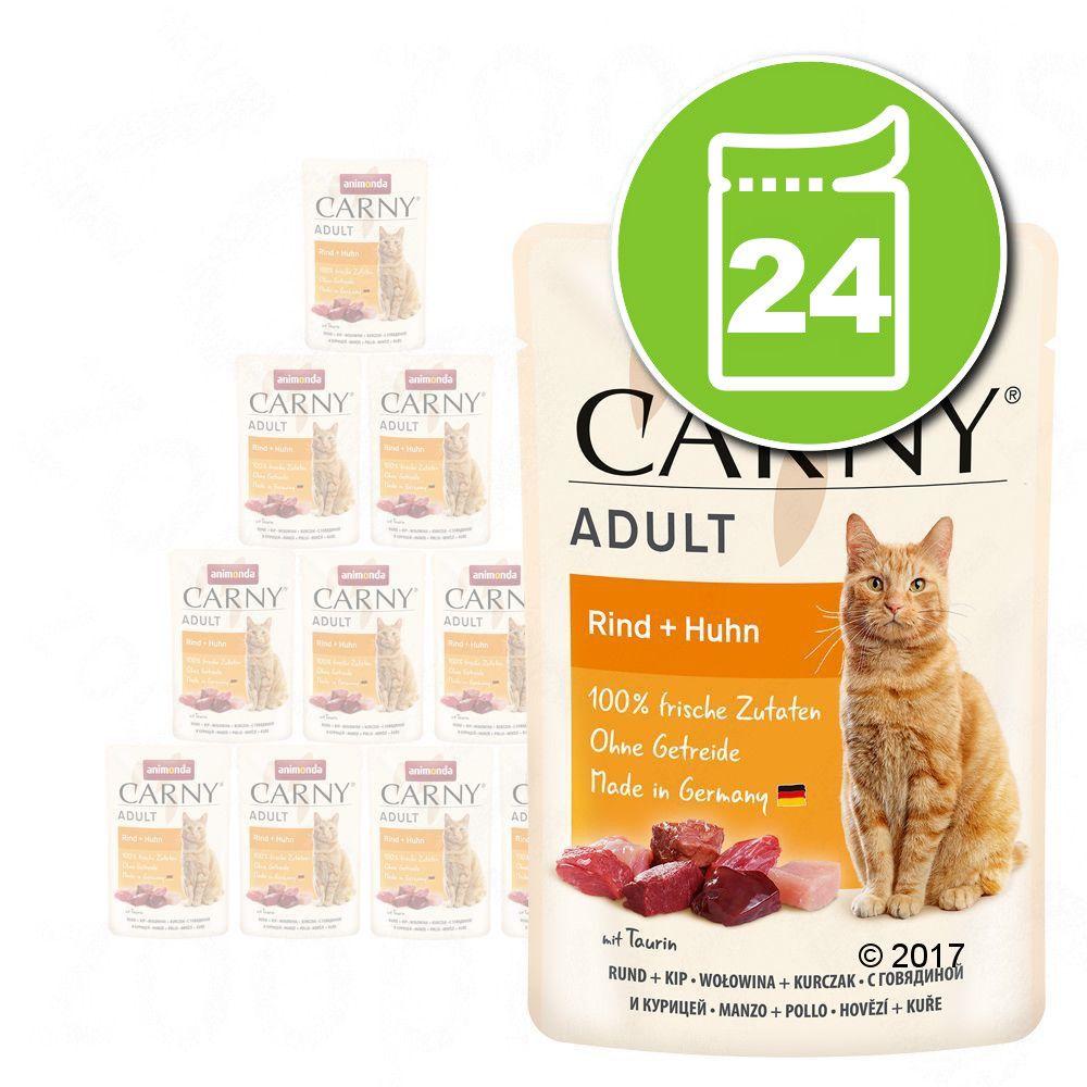 Lot Animonda Carny 24 x 85 g pour chat - bœuf, autruche