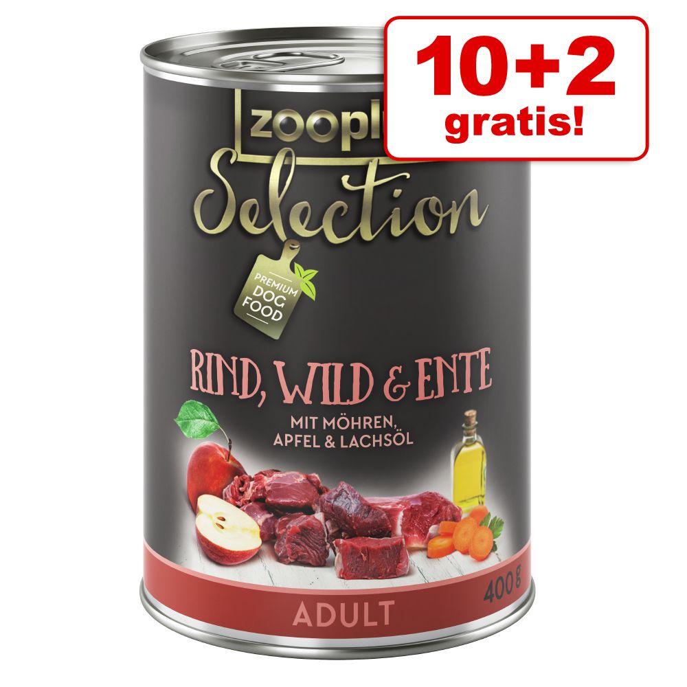 10 + 2 på köpet! zooplus Selection 12 x 400 g – Junior Kalkon