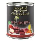 zooplus Selection Adult Beef, Venison & Duck - 6 x 400g