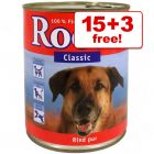 800g Rocco Wet Dog Food - 15 + 3 Free!* - Real Hearts Beef with Whole Chicken Hearts (18 x 800g)