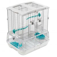 Hagen Vision Bird Cage for Small Birds (S01) - White: 45.5 x 35.5 x 51 cm (L x W x H)