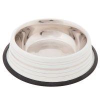 Ciotola in acciaio silver line per cani bianco opaco - - 0.2 l, 㘠15 cm.