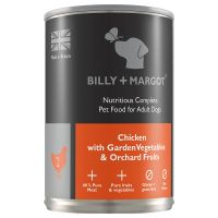 Billy + Margot Wet Dog Food + Treats Bundle - 30% Off!* - Puppy Chicken & Green Tripe (12 x 395g) + Honey & Banana Training Biscuits (125g)