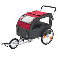 Globetrotter Dog Bike Trailer with Jogging Kit - 162 x 81 x 104 cm (L x W x H)