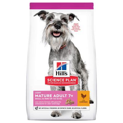 Hill's Mature Adult 7+ Light Small & Mini Science Plan con pollo - 3 x 2,5 kg - Pack Ahorro