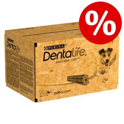 2 x Purina Dentalife hammashoitoherkut erikoishintaan! - keskikokoisille koirille (12-25 kg) - 168 tikkua (56 x 69 g)